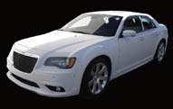 White chrysler Hire Cars